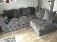 ❗❗ Best Price on Gumtree❗❗ Dylan Complete Sofa in Corner and 3+2 - In Grey Jumbo Cord