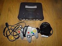 Nintendo 64 with mario kart and two controllers!