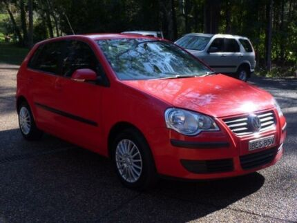 2008 Volkswagen Polo 9N MY08 Upgrade Match Red 6 Speed Automatic Hatchback