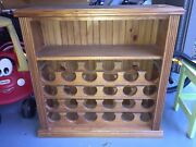 Solid African oak wine rack Pimpama Gold Coast North Preview