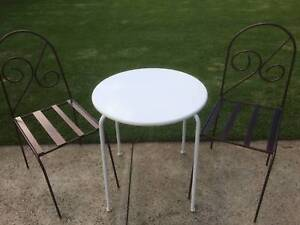 3 piece outdoor setting Table & 2 chairs  1x Round table D 65cm Kewdale Belmont Area Preview