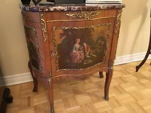 Estate Sale : Antique furniture, vases, plates, cups almps etc