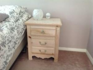 Beautiful solid wood bedroom dresser, side table and desk!