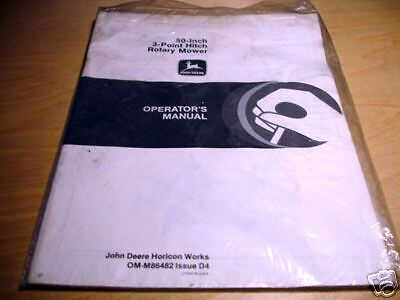 John Deere 50 3-point Mower Operators Manual Jd