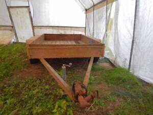 Dual axle timber floor farm trailer unrego Kempsey Kempsey Area Preview