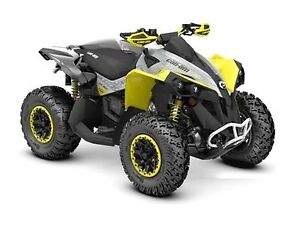 2019 Can-Am Renegade X xc 1000R Black, Grey  Sunburst Yellow