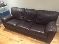 Pair of DFS leather sofas