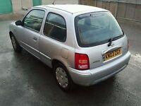Nissan Micra Silver (03) 3 Door 1.0 L Good Runner £500.00