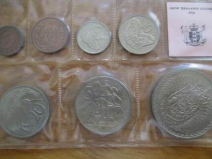 1976 New zealand coin set