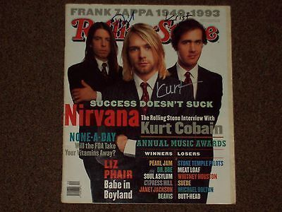 Nirvana Band Signed R.S. Kurt Cobain Dave Grohl AND Krist WOW
