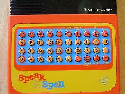 Image caption: Speak & Spell
