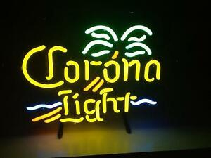 Corona Light Mini Palm neon sign