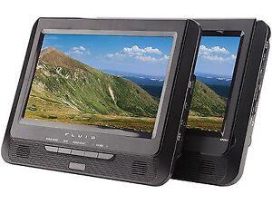 "Fluid 9"" Dual-Screen Portable DVD Player"