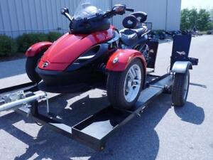 StingerTrailer to Carry a Can-Am Spyder- Stinger Folding Motorcycle Trailer. Includes Free Shipping!