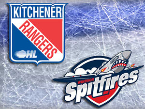 Kitchener Rangers V. Windsor Spitfires Reds on blueline 1/17