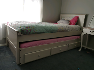 Single trundle bed with drawers forty winks 'alaska' Roseworthy Gawler Area Preview