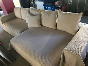 Plush Fabric 4 Seater Lounge New Lambton Newcastle Area Preview