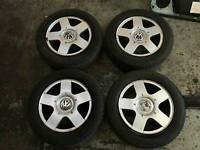 "Vw Golf Mk4 Alloys 5x100 15"" Fit: bora toledo leon octavia a3 a4"