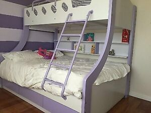 Kids double / single bunk bed with under bed drawers Parkinson Brisbane South West Preview
