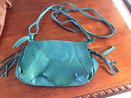 Cornelius leather handbag gorgeous teal never used