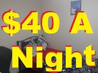 $220 Weekly Or $40 Nightyl FULLY FURNISHED ROOMS 7808802428