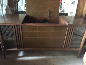 Antique  One of the kind old stereo console