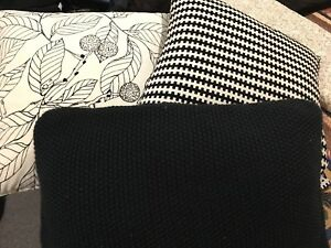 Ikea cushions black and white 55x55 cm Albion Brisbane North East Preview