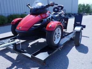 Stinger Trailer to Carry a Can-Am Spyder- Stinger Folding Motorcycle Trailer. Includes Free Shipping!