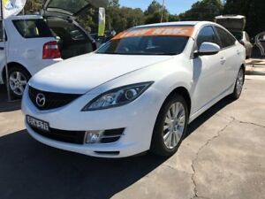 2008 Mazda 6 GH Classic White 6 Speed Manual Hatchback Clontarf Redcliffe Area Preview