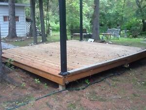 Selling 12X12 Pressure treated Gazebo Deck at Candle Lake