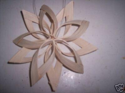 kit to make 3 double Christmas Stars  uses Basket reed