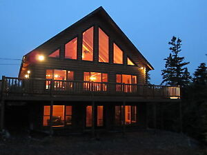 Oceanfront Log Lodge