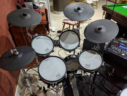 Roland TD-30K Electronic Drum Kit V-drums with upgrades