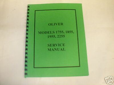Oliver Models 1755 1855 1955 2255 Tractor Servicemanual