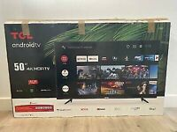 TCL 50P615K 50 Slim 4K HDR LED Smart Android TV
