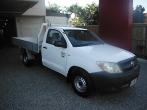 2008 Toyota Hilux White Manual Single Cab Kedron Brisbane North East Preview
