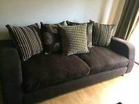 Dfs Brown 3 Seater Pillow Back Sofa,DELIVERY AVAILABLE