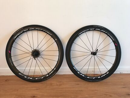 Fulcrum Racing Quattro Carbon Clincher Wheelset. 11SPD