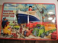Old Vintage Page of London Water Colour Paint Box