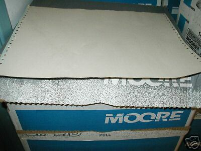 MOORE COMPUTER PAPER 3 PART 1150 SHEETS WHITE ON WHITE