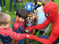 SPIDERMAN, BATMAN, CAPTAIN AMERICA SUPERHERO 4 HIRE