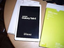 Samsung Galaxy Tab E 9.6 Inch 8GB Tablet - White for sale Boxed RRP 159.99