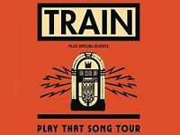3 tickets to see Train at Hammersmith Apollo this evening