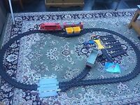 Playmobil passenger and cargo train set