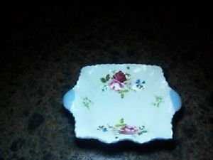 Vintage Shelley bone china ---Floral Nut or Mint Dish