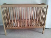 Ikea pine cot in great condition