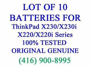 LOT OF 10 x GENUINE Lenovo Battery for ThinkPad X230 X230i X220 X220i 0A36282 42T4861 Series Laptop Batteries Original
