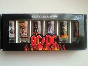 AC/DC Shot Glasses Set of 6 York York Area Preview