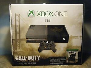 Call of duty limited edition xbox one, 1TB with over 30 games.