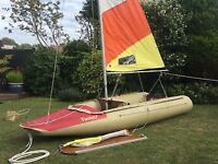 Tinker sailing dinghy boat